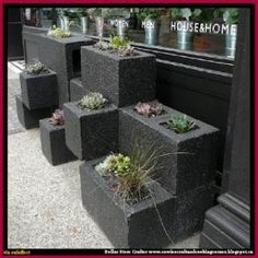 Cinder Block Planter by Dollar Store Crafter