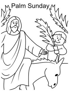 Palm Sunday Coloring page | Catholic Printables For Kids ...