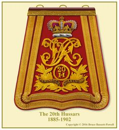 British; 20th Hussars, Officer's Sabretache, 1885-1902. This is the second pattern sabretache with the honour 'Suakin 1885' added.