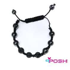 POSH Shamballa Black - Bracelet- Hematite and black crystal bead bracelet - String pull clasp - Max diameter opening is POSH by FERI - Passion for Fashion - Luxury fashion jewelry for the designer in you. Black Bracelets, Beaded Bracelets, Black Crystals, Ladies Boutique, Crystal Beads, Passion For Fashion, Crochet Necklace, Luxury Fashion, Fashion Jewelry