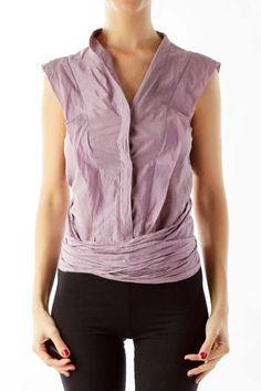 96a09fec97d47 Fancy purple wrap crop top by Kenzo  silkroll Kenzo