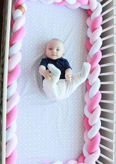 Mixed Colours Braided Crib Bumper Knot Pillow Knot Cushion
