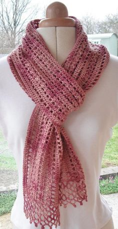 crochet: March Crochet Scarf by Agrarian Artisan on the LoveCrochet blog