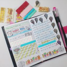 The Hobonichi: Photo Journal Notebook, Notebook Ideas, Journal Art, Art Journals, Journal Ideas, Office Survival Kit, Types Of Journals, Planner Doodles, Cute Notes
