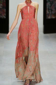 This ISSA printed silk halterneck gown is so elegant...love it!