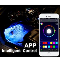 Car Interior Neon Lamp For Android iOS APP Control For Mazda 3 6 CX-5 CX-7 Audi A5 TT A1 A4 B6 B8 B7 A3 A6 C5 C6 Q5 Accessories //Price: $32.99 & FREE Shipping //   #quadcopter