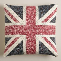 One of my favorite discoveries at WorldMarket.com: Union Jack Square Throw Pillow
