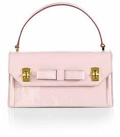 Miu Miu Bow Mini Patent Leather Top-Handle Bag on shopstyle.com