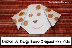 Super cute way to get geometry and art to combine into a fun activity for kids of all ages - Oragami Dog.