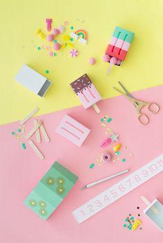 DIY Popsicle Favor Boxes