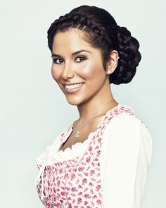 A dirndl hairstyle for thick hair