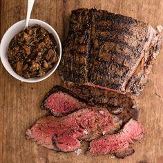 Grilled Beef Tenderloin with Wild Mushroom Mostarda
