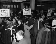 Photograph of the ladies section in the Clothing Department, c1961.  (GUAS Ref: HF 51/6/1/5/4 photo 2. Copyright reserved.)