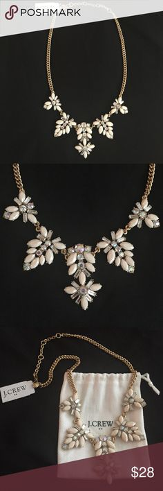 J Crew light pink necklace NWT J crew pale pink crystal necklace. Comes with J crew dust bag. Even prettier in person J. Crew Jewelry Necklaces