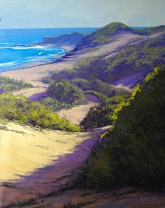Graham Gercken (b.1960) — Beach Dunes Norah Head (795x1006)#Art #Painting
