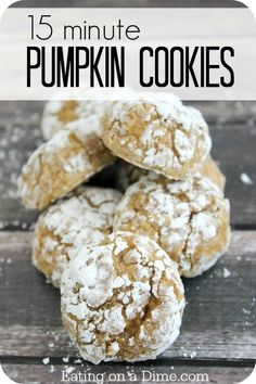 Oh my these Pumpkin Cookies are amazing! You can make them in under 15 minutes, with very few ingredients.