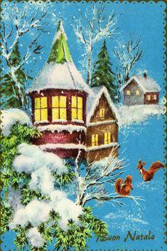 Decorazioni Natalizie Anni 70.1458 Fantastiche Immagini Su Cartoline Di Natale Nel 2018