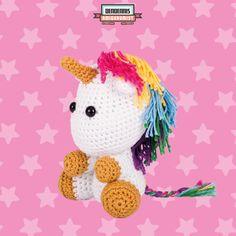 """Unicorn / Eenhoorn A Dendennis design from his dutch amigurumi book """"Kawaii Haken"""""""