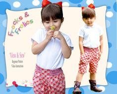 Sewing Pattern Shorts for Girls   Maisy  Digital by SewlikeaPro