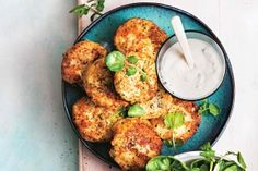 Cauliflower and fetta fritters