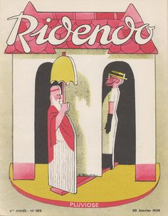 Cover of the French magazine Ridendo (Jan. 1939) by Jacques Touchet.