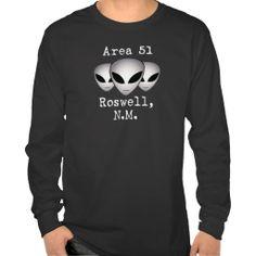 Area 51 Roswell, N.M. - Alien/Aliens/UFO Sightings T-shirts