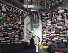 Karl Lagerfeld's home library, Paris.