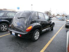 A Random Black PT Cruiser in the parking lot.