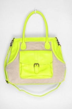 Neon accented bag!