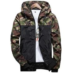 9b824e6c5bb5 2018 Hot Spring Autumn Men s Camouflage Coat Mens Hoodies Casual Jacket  Brand Clothing Mens Windbreaker Coats Male Outwear 5XL