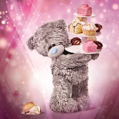 Holographic Tatty Teddy Holding Cakes Me to You Bear Birthday Card Tatty Teddy, Teddy Images, Teddy Bear Pictures, Happy Birthday My Love, Happy Birthday Wishes, Bear Birthday, Birthday Cards, Teady Bear, Bear Graphic
