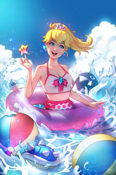 Princess Peach~SuperMario Bros by Tsuaii & Zolaida