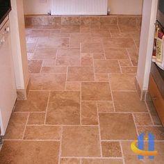 Granite Tile Floors in Kitchen
