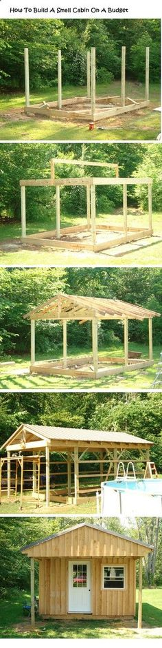 Now You Can Build ANY Shed In A Weekend Even If You've Zero Woodworking Experience! Start building amazing sheds the easier way with a collection of shed plans! Building A Small Cabin, Building A Shed, Woodworking Projects Diy, Woodworking Plans, Woodworking Patterns, Diy Shed, Shed Storage, Craft Storage, Garage Storage