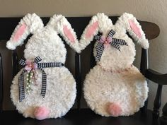 Easter Devotions, Baby Easter Basket, Easter Projects, Easter Ideas, Easter Crafts For Adults, Bunny Crafts, Diy Easter Decorations, Valentine Crafts, Spring Crafts
