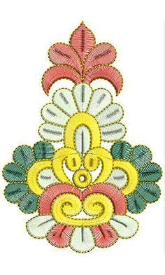 6.14 x 4.25 Inch Applique Embroidery Design