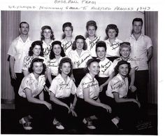 """The original Rockford Peaches 1943 All-American Girls Professional Baseball League ~ They inspired the film """"A League of Their Own."""""""
