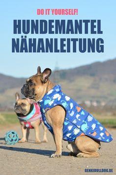 Nähnleitung für DIY Hundemantel Tutorial auf www.genkibulldog.de