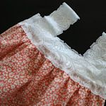 Pillow Case upcycle: dress for a little girl or cute peasant top for a woman.