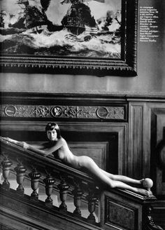 A slippery slope. #AdrianaLima #BlackAndWhite | smutty.com