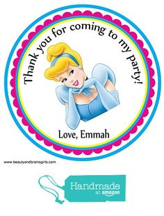 Cinderella SnowWhite Princess Custom Personalized Stickers Birthday Party Favors - Treat Tag Toppers- 24 Stickers Popular Size 2.5 Inches. Peel and Stick Backing from Custom Party Favors, Handmade Craft , and Educational Products http://www.amazon.com/dp/B01E67KL6U/ref=hnd_sw_r_pi_dp_Dw0rxb009M9RB #handmadeatamazon