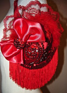 Bra Purse Red Hat Society Purse by KandiKweenDesigns on Etsy