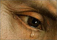 Rogier Van Der Weyden:  Descent from the Cross  (1435)  Detail