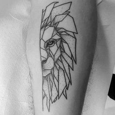 Image result for geometric tattoo lion