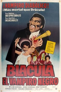 Blacula The Black Vampire, 1972 - original vintage film poster for an American…