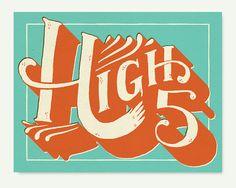 High5 print by MaryKateMcDevitt on Etsy