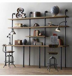 Te mostramos cómo puedes hacer las estanterías de tu casa y que queden tan bien como las de la imagen.