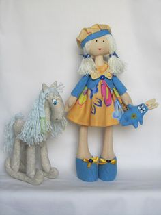 Handsome Handmade: Two Handmade Toys: a Rocking Horse and a Doll with...