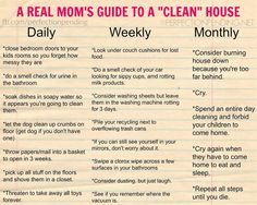Every Mom Will Relate to This Woman's Hilariously Honest Cleaning Guide