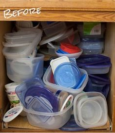 Why can't you ever seem to find a lid and bottom that fit when you need to? Oh, that's because your cabinet looks a little something like this. - HouseBeautiful.com